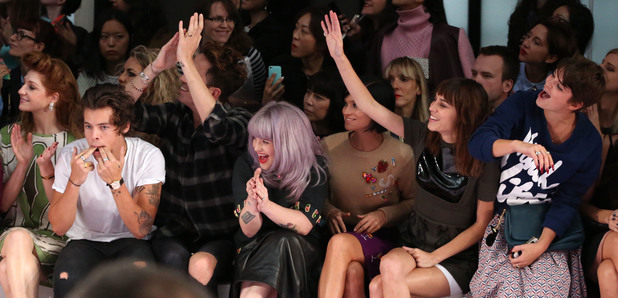 Harry Styles, Nick Grimshaw, Kelly Osbourne, Alexa Chung, Pixie Geldof House of Holland LFW 2013 Spring/Summer 2014
