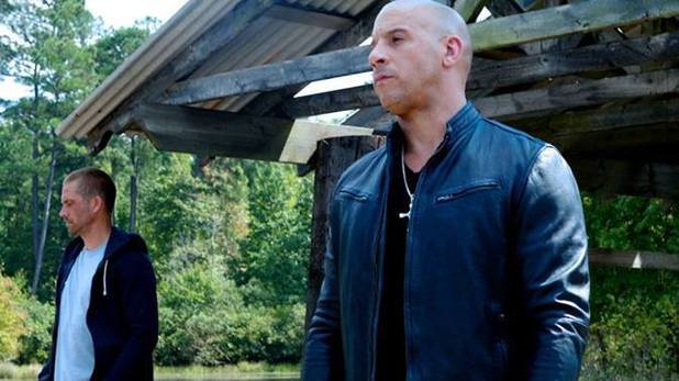 Vin Diesel and Paul Walker in 'Fast & Furious 7' on-set photo