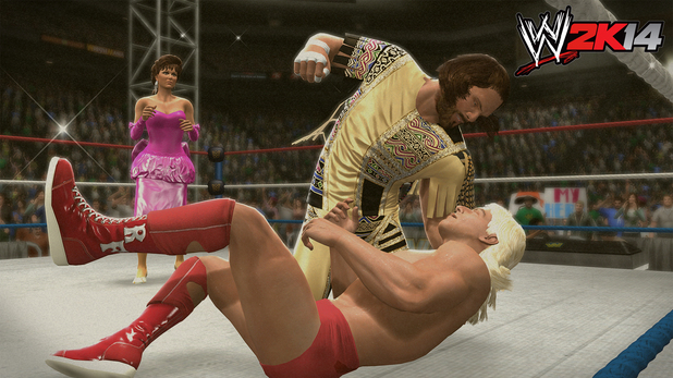 Randy Savage (with Miss Elizabeth) vs. Ric Flair (c) (with Mr. Perfect)