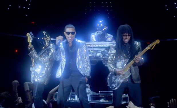 Daft Punk, Pharrell Williams, Nile Rodgers 'Lose Yourself To Dance' music video.