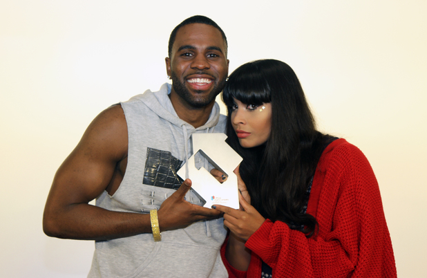 Jason Derulo celebrates his third UK number one single