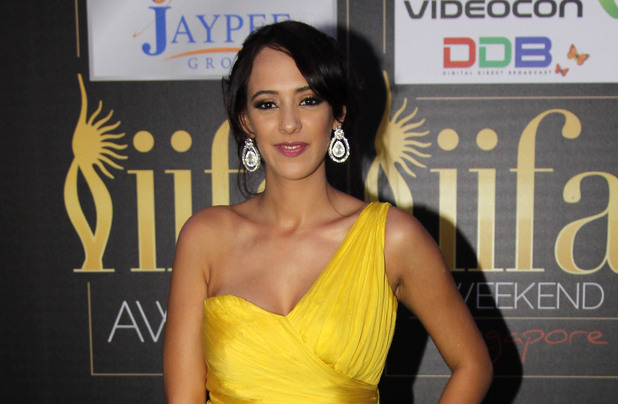 Hazel Keech at the Jaypee International Indian Film Academy (IIFA) awards.
