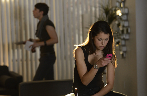 Tatiana Maslany as Sarah in 'Orphan Black' episode 1: 'Natural Selection'