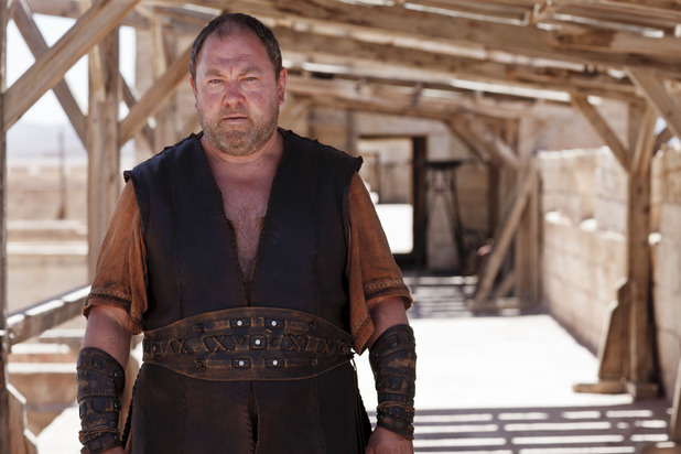 Mark Addy as Hercules in BBC One's Atlantis