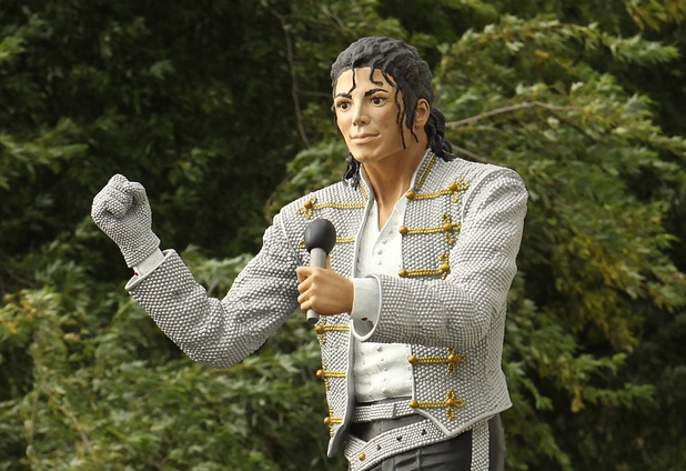 The Michael Jackson statue outside Craven Cottage.