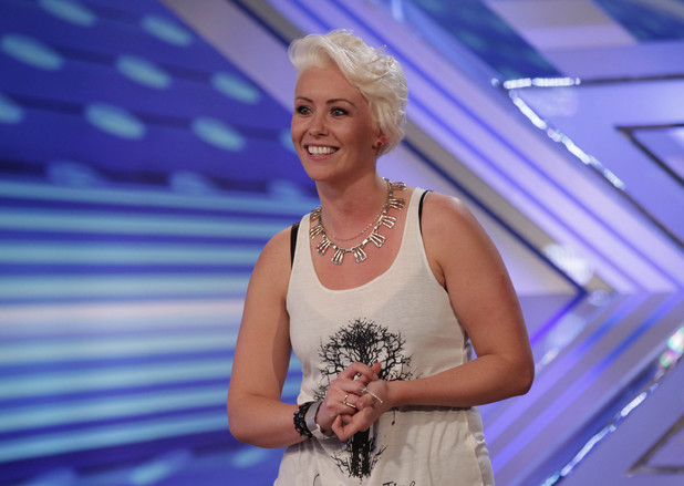 Andrea Magee performs on The X Factor