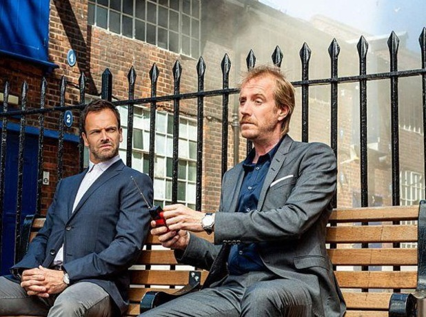 Johnny Lee Miller and Rhys Ifans in 'Elementary'