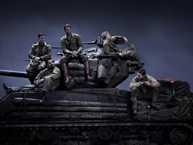 Brad Pitt, Logan Lerman, Shia LaBeouf in 'Fury'