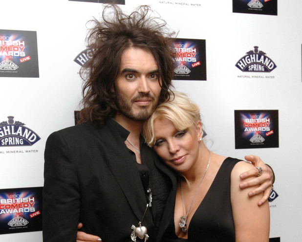 Russell Brand and Courtney Love arrive for the British Comedy Awards 2006 at the London Studios in south London. Picture date: Wednesday, December 13, 2006