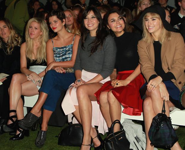 Ellie Goulding, Pixie Geldof, Daisy Lowe, , Suki Waterhouse Topshop Unique Spring/Summer 2014 LFW 2013