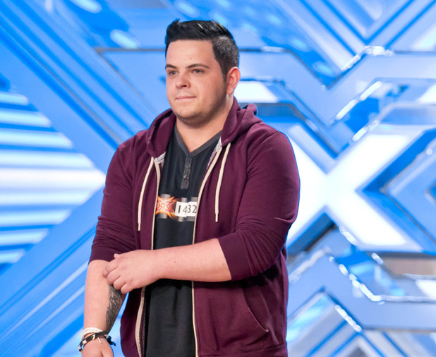 Paul Akister performs on The X Factor