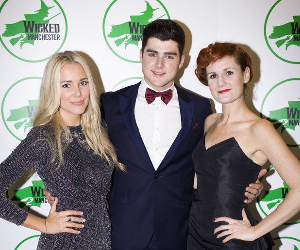 Emily Tierney, Liam Doyle, Nikki Davis-Jones at Wicked tour launch