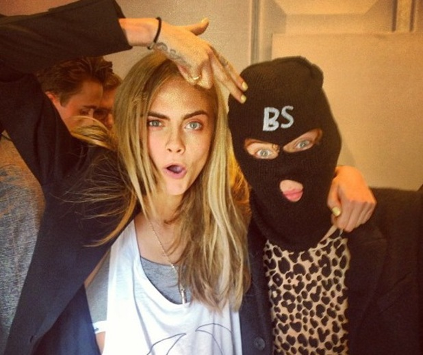 "Cara Delevingne, Harry Styles, balaclava ""got another one"" bs rogue models"