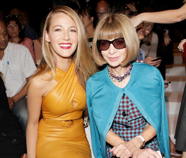 Gucci show, Spring Summer 2014, Milan Fashion Week, Italy - 18 Sep 2013 Blake Lively and Anna Wintour 18 Sep 2013