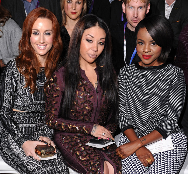 PPQ show, Spring Summer 2014, London Fashion Week, Britain - 13 Sep 2013 Sugababes - Siobhan Donaghy, Mutya Buena and Keisha Buchanan 13 Sep 2013