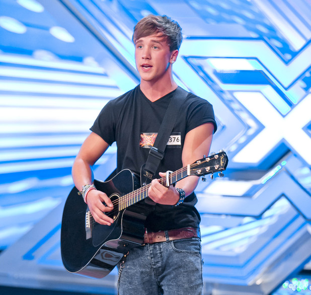 Sam Callahan performs on The X Factor