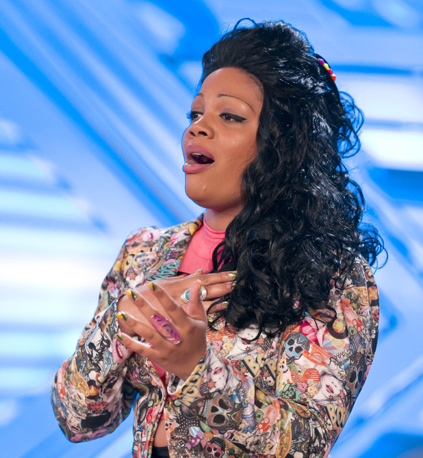 Lorna Simpson performs on The X Factor