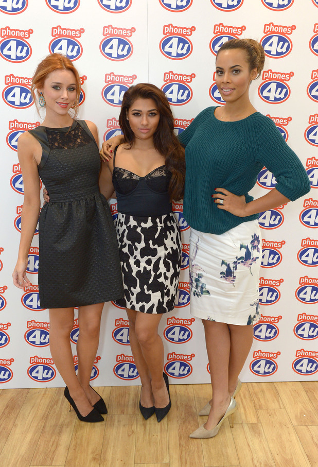 The Saturdays' Una Healy, Rochelle Humes and Vanessa White