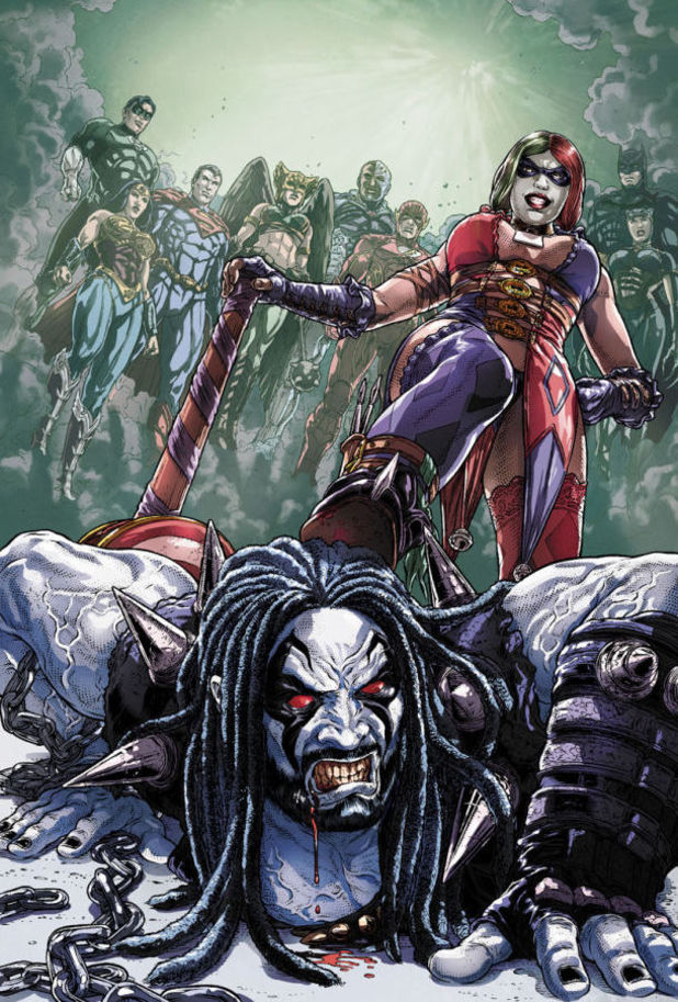 DC Comics' annual cover for 'Injustice'