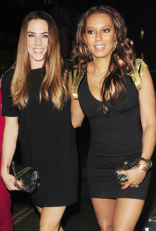 Melanie Chisholm and Melanie Brown at Strictly Come Dancing crew party at Disco Nightclub, London