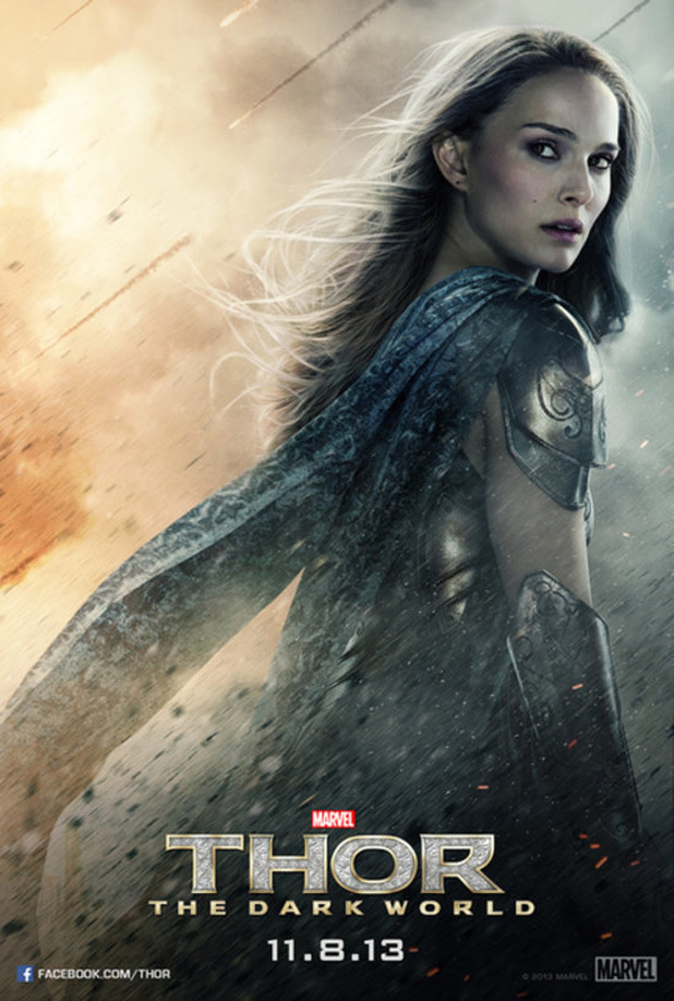 Natalie Portman as Jane Foster in 'Thor: The Dark World'.