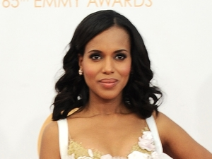 Kerry Washington arrives at the 65th Primetime Emmy Awards at Nokia Theatre on Sunday Sept. 22, 2013, in Los Angeles