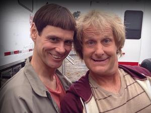 Jim Carrey, Jeff Daniels on set for 'Dumb and Dumber To'