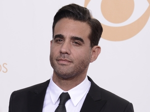 "Bobby Cannavale, winner of the best supporting actor in a drama series for ""Boardwalk Empire"" poses backstage at the 65th Primetime Emmy Awards"