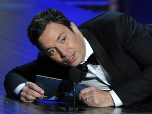 Jimmy Fallon presents the award for outstanding lead actress in a drama series at the 65th Primetime Emmy Awards