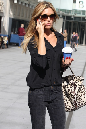 Celebrities outside BBC Radio studios, London, Britain - 24 Sep 2013 Abigail Clancy 24 Sep 2013