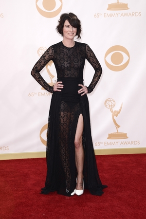 Lena Headey arrives at the 65th Primetime Emmy Awards at Nokia Theatre on Sunday Sept. 22, 2013, in Los Angeles.