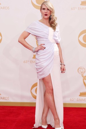 Lily Rabe arrives at the 65th Primetime Emmy Awards at Nokia Theatre on Sunday, Sept. 22, 2013, in Los Angeles