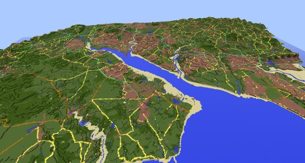 'Minecraft': Britain recreated by Ordnance Survey