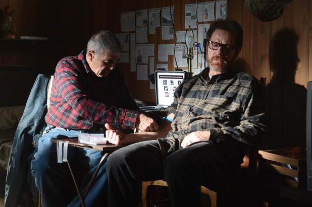 Ed (Robert Forster) and Walter White (Bryan Cranston)