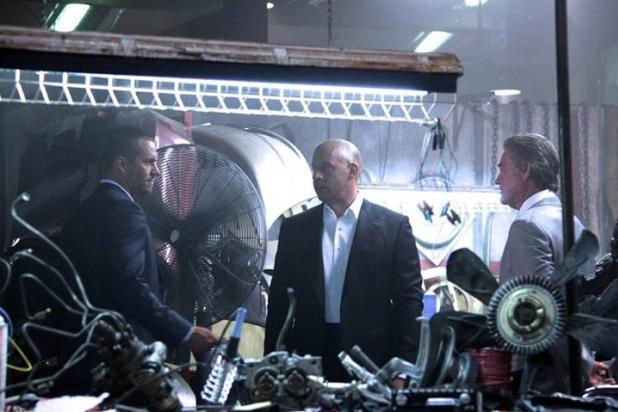 Vin Diesel, Paul Walker and Kurt Russell in 'Fast & Furious 7'