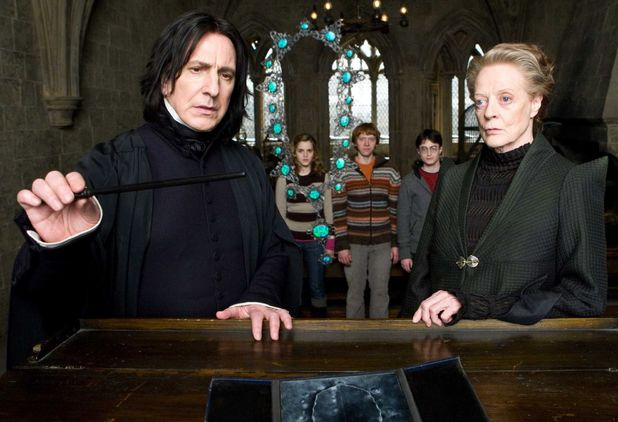 Professor Snape and Professor McGonagall in 'Harry Potter and the Half-Blood Prince'
