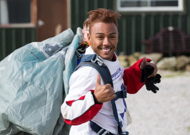 Marcus Collins skydives for charity.