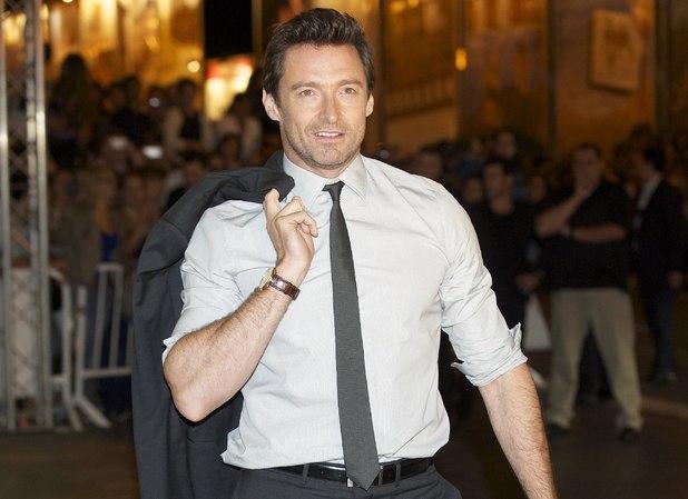 Hugh Jackman arrives at the Maria Cristina Hotel during 61st San Sebastian International Film Festival