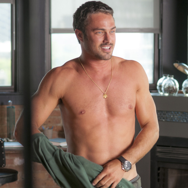 Taylor Kinney shirtless in 'Chicago Fire'