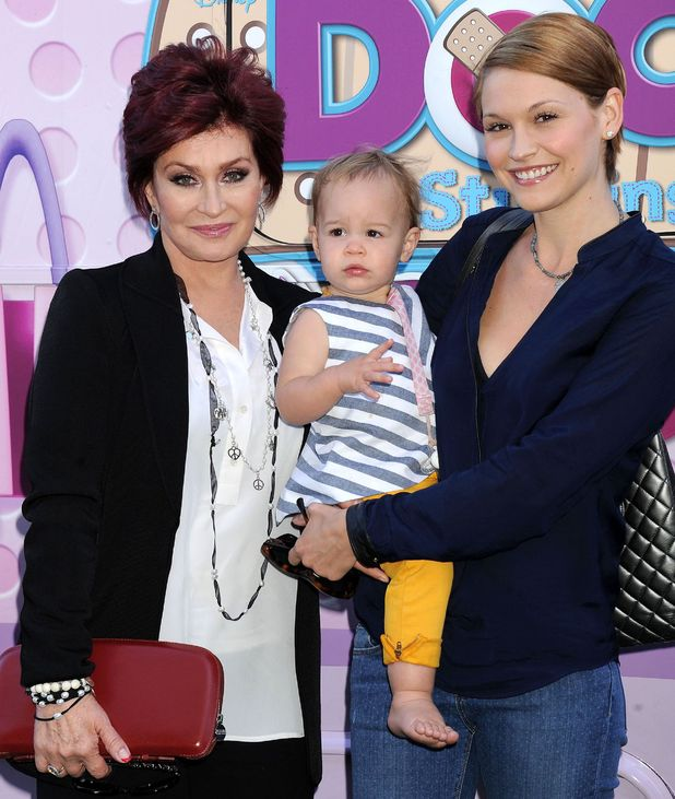 Sharon Osbourne and daughter-in-law Lisa Stelly with daughter Pearl Osbourne
