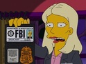 Pictures of The Simpsons spoofing Showtime drama Homeland.