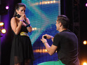 One hopeful proposes on stage; a duo capture the panel with their original song.