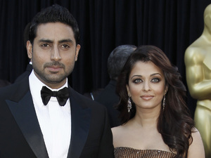 Abhishek Bachchan and Aishwarya Rai Bachchan at the 83rd Academy Awards.