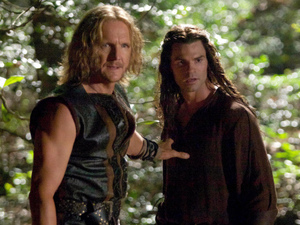 Sebastian Roche as Mikael and Daniel Gillies as Elijah in 'The Originals' S01E01: 'Always And Forever'
