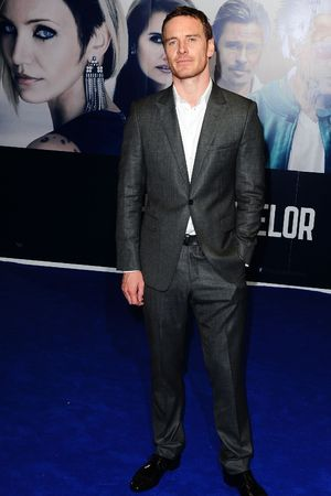 Michael Fassbender arriving at a special screening of new film The Counselor at the Odeon West End, London