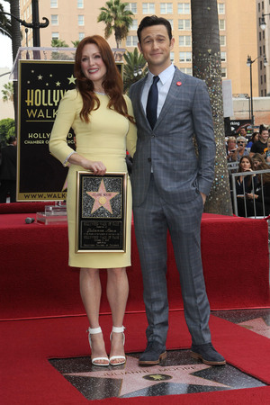 Julianne Moore and Joseph Gordon-Levitt at Julianne Moore's Walk of Fame Star Ceremony