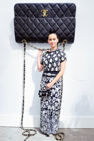Katy Perry attends the Chanel show at Paris Fashion Week