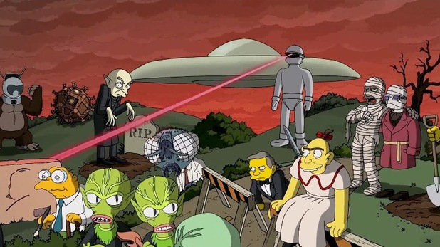 'The Day The Earth Stood Still' referenced in Guillermo del Toro's opening sequence to 'The Simpsons'