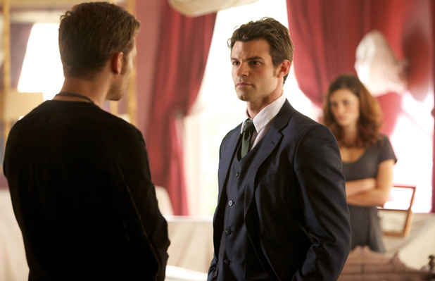 Joseph Morgan as Klaus, Daniel Gillies as Elijah and Phoebe Tonkin as Hayley in 'The Originals' S01E01: 'Always And Forever'