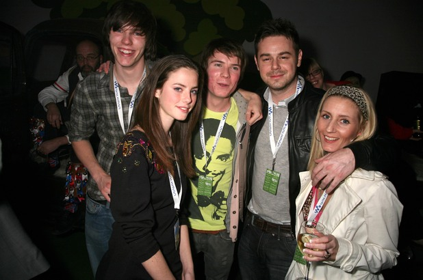 Danny Dyer with his Skins co-stars